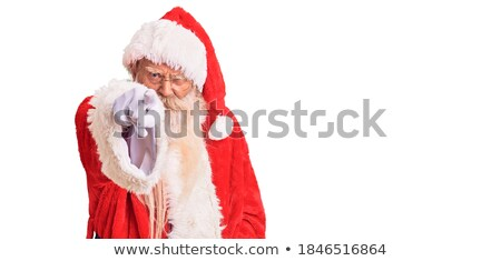 Senior man in Santa costume pointing at you Stock photo © stockyimages