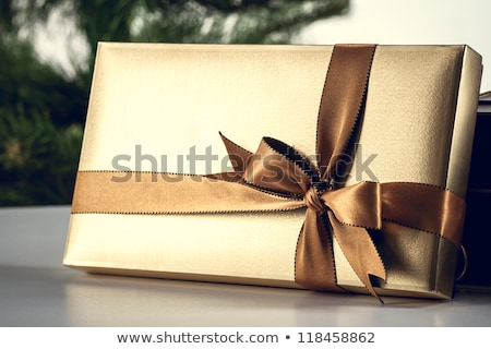 Stock photo: Gift box with 2013