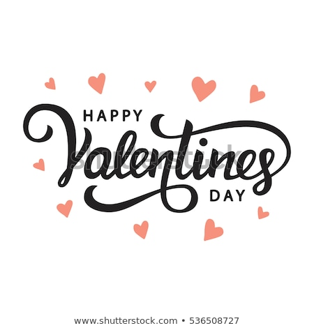 happy valentines day card design vector stock photo © thecorner