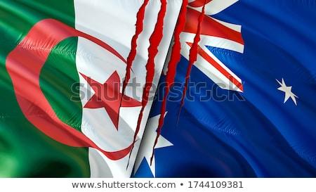 Austrália Argélia mundo australiano bandeira Foto stock © ruskpp