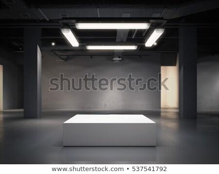 Galeri mavi renk yalıtılmış beyaz Stok fotoğraf © tashatuvango