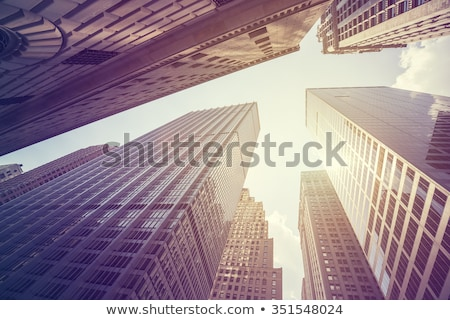 Stock photo: New York City buildings, looking up