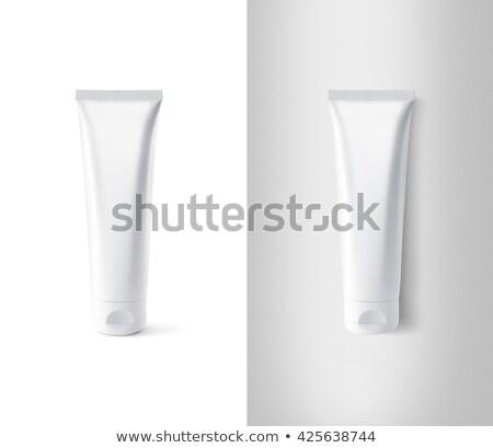 Biały rur odizolowany tekst Zdjęcia stock © winterling