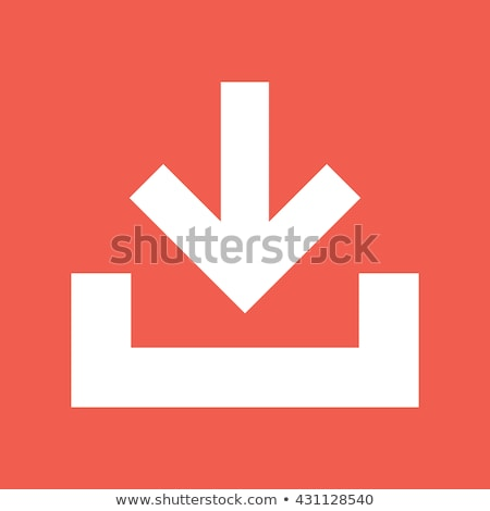 Orange download button Stock photo © stevanovicigor