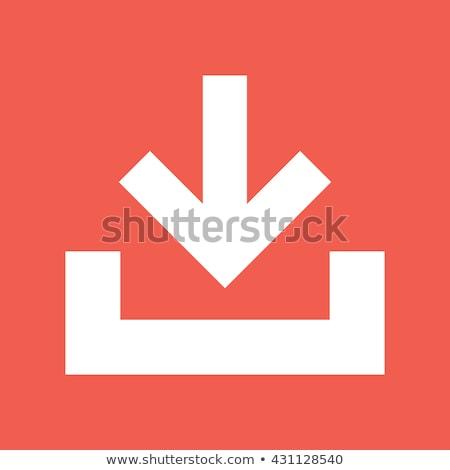 orange download button stock photo © stevanovicigor