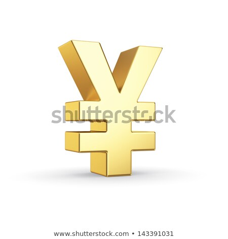3D Yen or Yuan currency sign isolated on white Stock photo © make