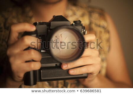 camera with battery grip and lens Stock photo © Grazvydas