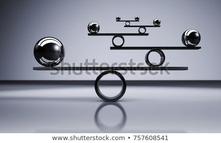 Stabilność równowagi wieża mokro charakter Zdjęcia stock © Grazvydas