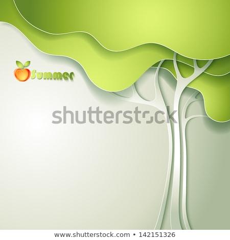 çevre yeşil elma dünya haritası dizayn sağlık Stok fotoğraf © mike_expert