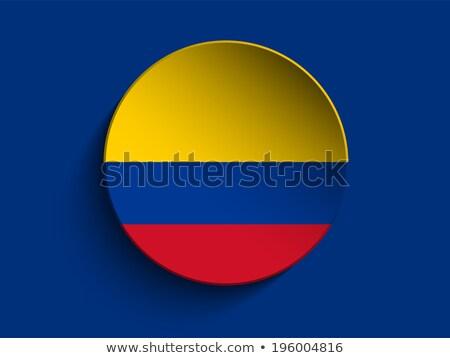 Colombia zászló papír kör árnyék gomb Stock fotó © gubh83