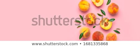 fresh summer peaches stock photo © bendicks
