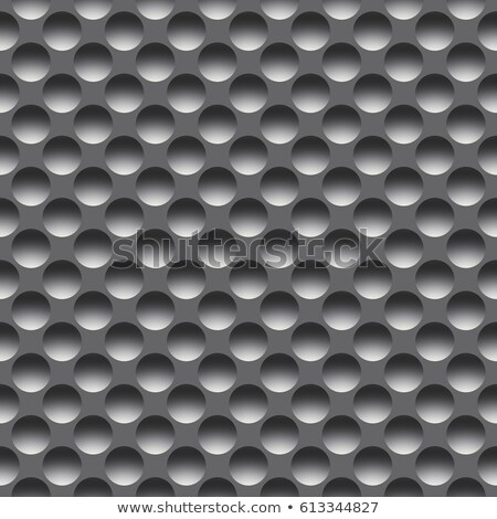 concave metal surface background with holes stock photo © mikko