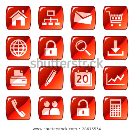 glossy web icons - red series 1 Stock photo © radoma