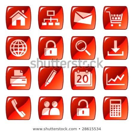 iconos · de · la · web · rojo · popular · ordenador · música - foto stock © radoma