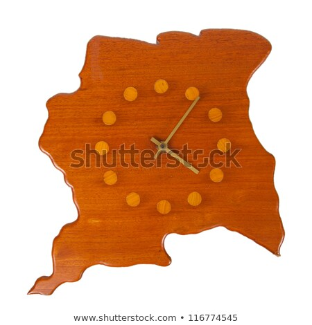 Wooden clock in the shape of the country Suriname Stock photo © michaklootwijk