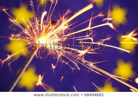 Euro · szövetség · zászló · csillagszóró · európai · ünnep - stock fotó © paha_l