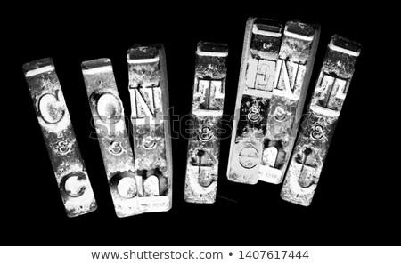 Kluczowych grunge maszyny do pisania zarządzania ikona starych Zdjęcia stock © tashatuvango