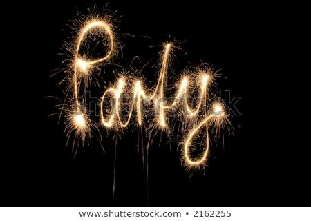 party word sparkler stock photo © paha_l