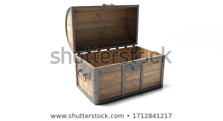 Wooden treasury case Stock photo © doupix