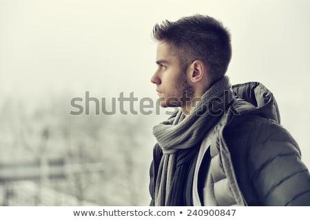 小さな 男性モデル 着用 冬 ジャケット 徒歩 ストックフォト © get4net