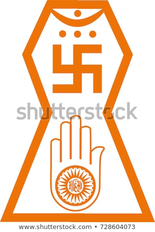 Religious Symbol of Jainism- Ahimsa Hand Stock photo © shawlinmohd