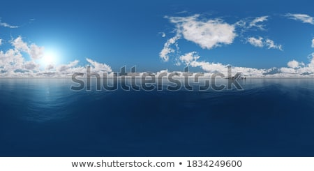 Sferico panorama isola rendering 3d cielo mare Foto d'archivio © ixstudio