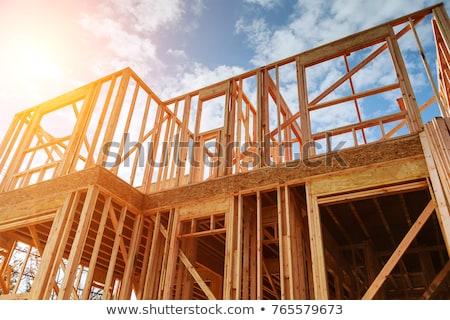 fából · készült · építkezés · dűne · gazdaság · önt · fa - stock fotó © xedos45