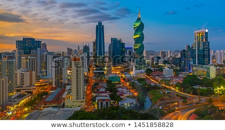 Panama ville crépuscule Skyline vitesse architecture Photo stock © dacasdo