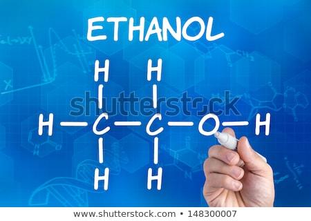 Kéz toll rajz vegyi képlet etanol Stock fotó © Zerbor