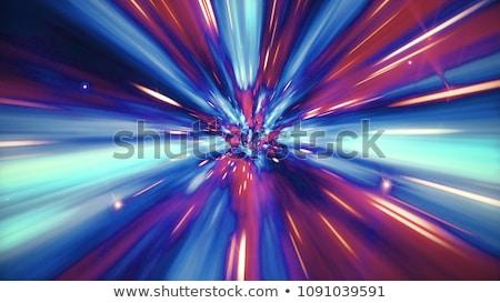 Blauw ruimte draaikolk abstract illustratie Stockfoto © ArenaCreative