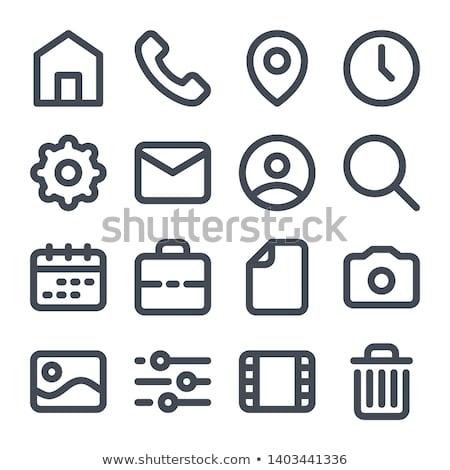 вектора икона мусорное ведро файла стрелка документа Сток-фото © zzve