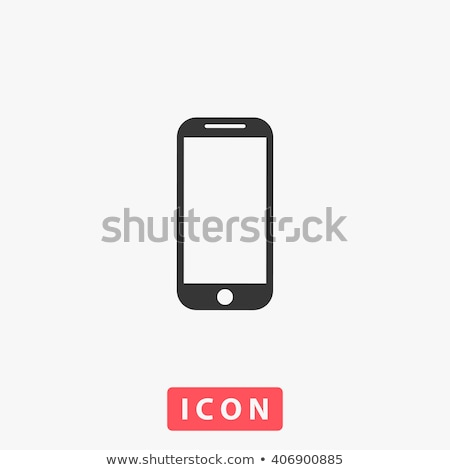 Stock photo: Vector icon mobile phone and photo