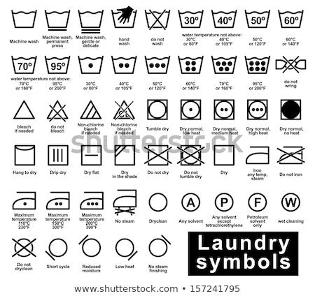 стиральная · машина · реалистичный · дизайна · одежды · чистой · прачечной - Сток-фото © beaubelle