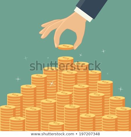 Сток-фото: стороны · монетами · деньги · металл · группа · банка