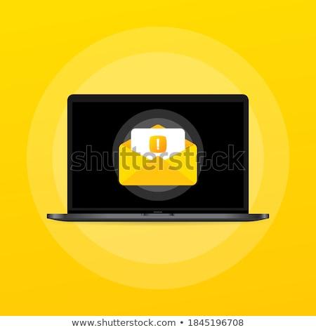 Zarf ünlem işareti eğim iş kâğıt Stok fotoğraf © cammep