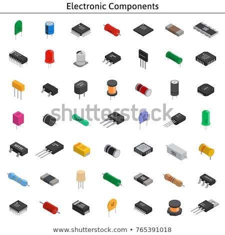Elektronikus alkotóelemek lefelé néz véletlenszerű üzlet háttér Stock fotó © jayfish