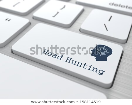 White Keyboard with Headhunting Button. Stock photo © tashatuvango