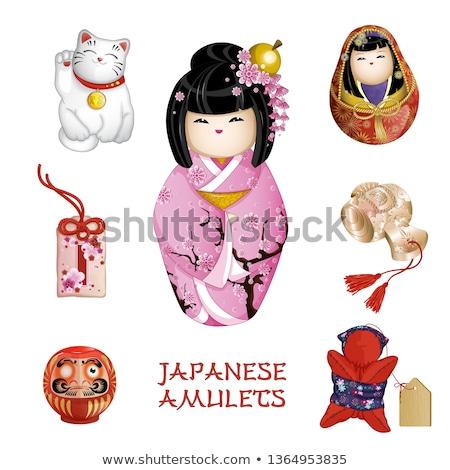 Japon model geleneksel doku bebek dizayn Stok fotoğraf © ayelet_keshet