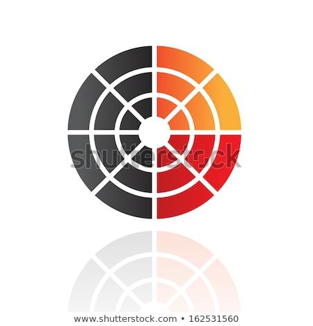 színes · absztrakt · radar · ikon · üzlet · terv - stock fotó © cidepix