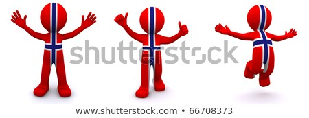 3d character textured with flag of norway stock photo © kirill_m