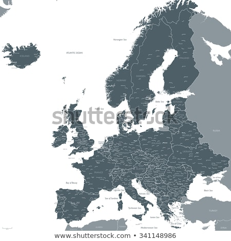 Map of Europe with Montenegro Stock photo © Ustofre9