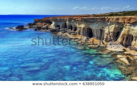 Ciprus égbolt víz út szépség kék Stock fotó © ruzanna