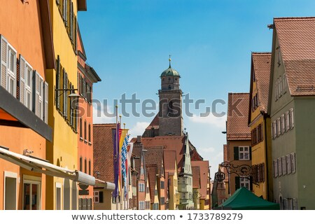 view to old medieval city of Dinkelsbuehl, Germany Stock photo © meinzahn