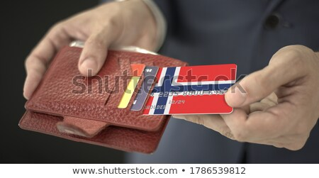 Norweigan Businessman holding business card with Norway Flag Stock photo © stevanovicigor