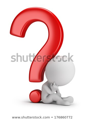 3d small people - pondering the question Stock photo © AnatolyM