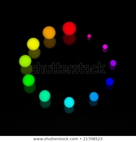 Foto stock: 3D · símbolo · reloj · signo · grupo · pelota