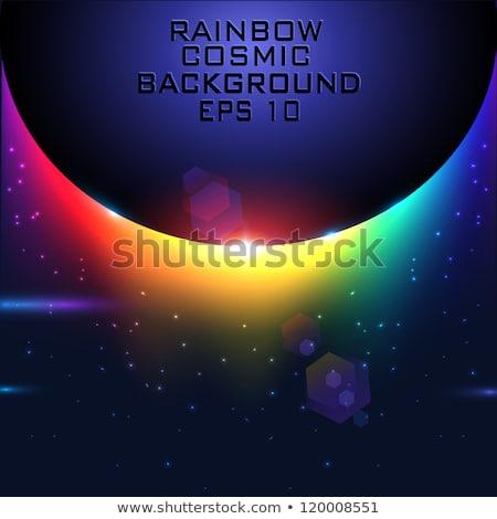 szivárvány · absztrakt · fellobbanás · elrendezés · színes · copy · space - stock fotó © arenacreative