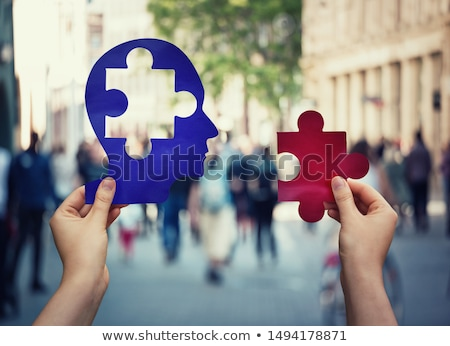 psychology puzzle head stock photo © lightsource