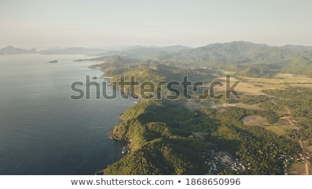 Tropical settlement with sea view  Stock photo © Elisanth
