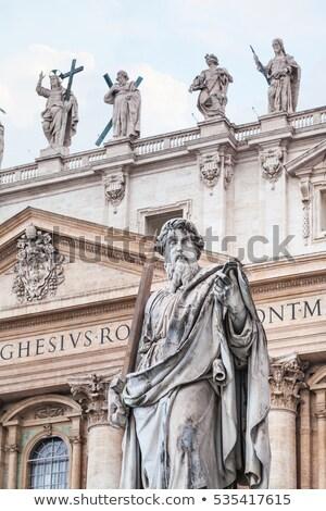 大聖堂 · ローマ · イタリア · 広場 · 噴水 · 空 - ストックフォト © gigra